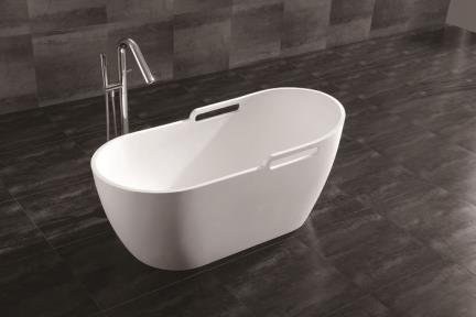 דגם BT155-11. אמבטיה פרי סטנדינג לבן מט.  גודל: 152*72  גובה: 67.5