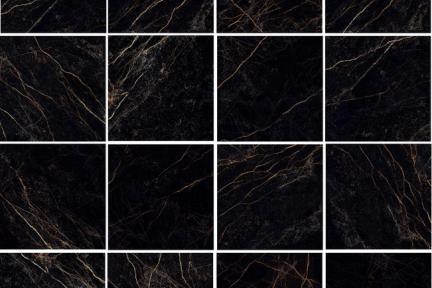דגם 1011543. פורצלן דמוי שיש שחור זהב.  ורסצ'ה.  גודל: 58.5*58.5