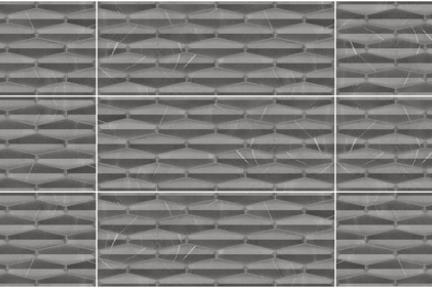 אריחי ריצוף  גרניט פורצלן דמוי אבן 1012324. אריח תלת מימד אפור כהה.  גודל: 45*90