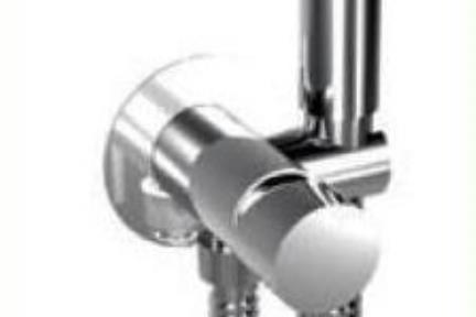 אביזרים לאמבטיה ראשי מקלחת מבית Bongio 32916. אינטרפוץ 3 דרך עם מאחז ונקודת מים מובנים. מזלף עם מפסק וצינור.