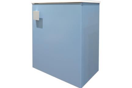 6422-4. ארון שרותים כחול מט + כיור אבן מלאכותית  גודל: 22X40  גובה: 45