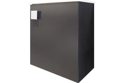 6422-9. ארון שרותים שחור סטן + כיור אבן מלאכותית   גודל: 40*22   גובה: 45