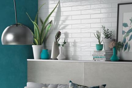 אריחי וינטג' לחיפוי קיר בסגנון עתיק 981146. פורצלן לבן ענתיקה.  גודל: 6.1*37