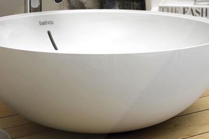 כיור מונח לחדר אמבטיה B425. כיור מונח עגול דק.  קוטר: 42  גובה: 15