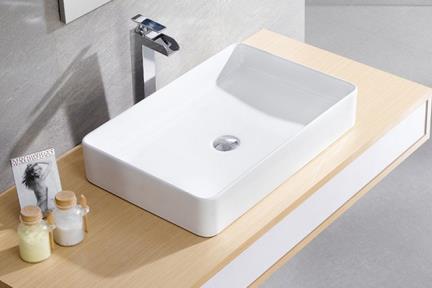 כיור מונח לחדר אמבטיה B603. כיור מונח שוליים קצרים.  גודל: 40*60.5  גובה: 11.5