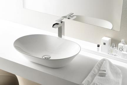 כיור מונח לחדר אמבטיה B605. כיור מונח אובלי.  גודל: 42.2*58.8