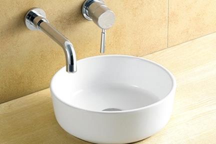 כיור מונח לחדר אמבטיה L31. כיור מונח עגול.  קוטר: 31