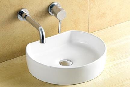 כיור מונח לחדר אמבטיה L422. כיור מונח סהר.  גודל: 35*41.  גובה: 10