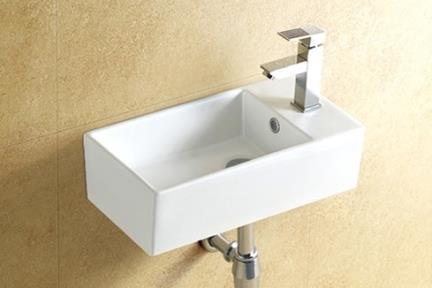כיור ידיים לחדר השרותים L456. כיור שירותים לקיר.  גודל: 25*48  גובה: 13.5