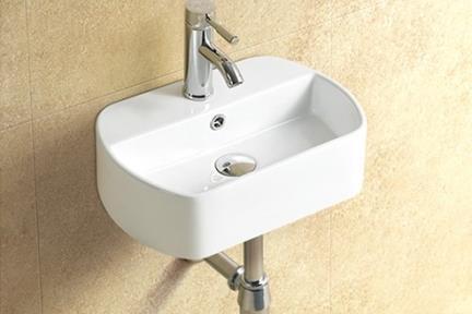 כיור קיר תלוי לאמבטיה L457. כיור קיר.  גודל: 30*45  גובה: 13