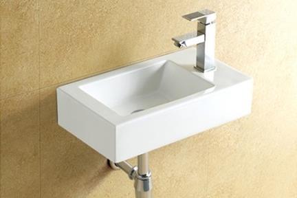 כיור קיר תלוי לאמבטיה L458. כיור קיר מלבני לשירותים.  גודל: 46*26  גובה: 11