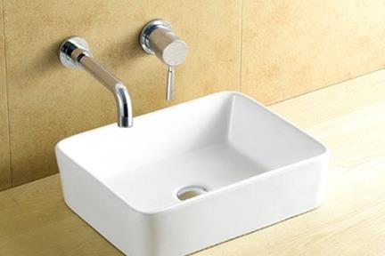 כיור מונח לחדר אמבטיה L491. כיור מונח מלבני.  גודל: 37.5*49  גובה: 13.5