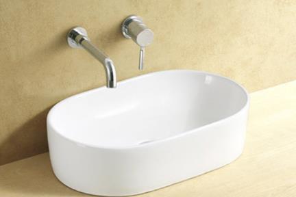 כיור מונח לחדר אמבטיה L551. כיור מונח אובלי.  גודל: 33.5*53  גובה: 13.5