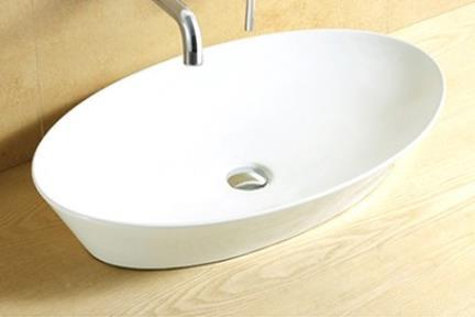כיור מונח לחדר אמבטיה L634. כיור מונח אליפסי.  גודל: 37.5*61  גובה: 11.5