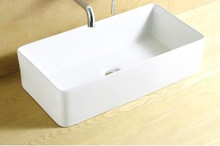 כיור מונח לחדר אמבטיה L594. כיור מונח מלבני.  גודל: 30*59  גובה: 15