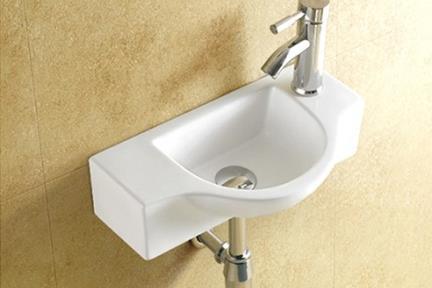 כיור ידיים לחדר השרותים L4502. כיור שירותים תלוי.  גודל: 45*25  גובה: 12