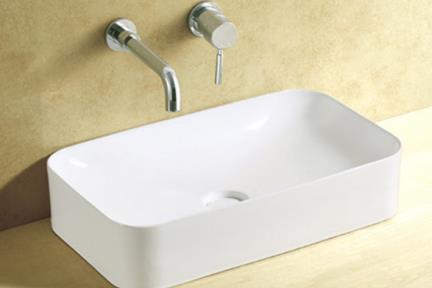 כיור מונח לחדר אמבטיה L636. כיור מלבני מונח.  גודל: 35.5*60.5