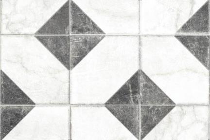 דגם 1012353. פורצלן ענתיקה משולשים שחורים בשתי פינות.  גודל: 20*20