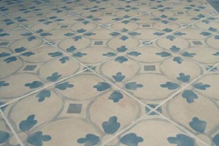 אריחי ריצוף וינטג' סדרת Catalonia 1012108. פורצלן ענתיקה עם פרחים.  גודל: 20*20