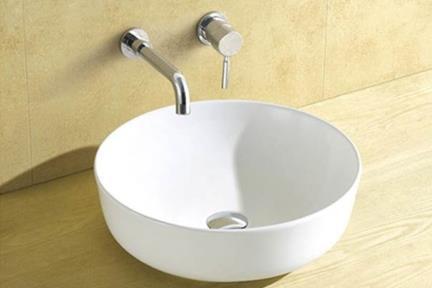 כיור מונח לחדר אמבטיה L421. כיור עגול מונח  קוטר: 42  גובה: