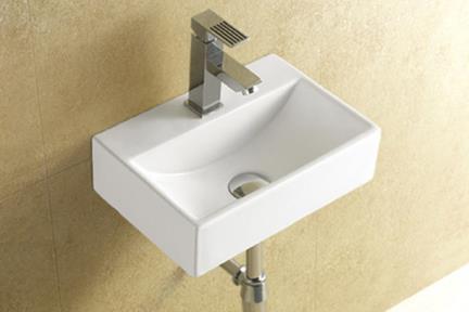כיור קיר תלוי לאמבטיה L370. כיור שולחני קטן.  גודל: 47*23  גובה: 11.5