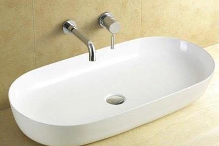 """כיור מונח לחדר אמבטיה L825. כיור מונח אובלי  81.5*41  מחיר: 1287 ש""""ח"""