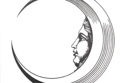 דגם C239. דקור פני ירח שחור לבן.  גודל: 20*20