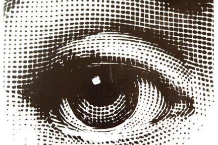 דגם C242. דקור עין שחור-לבן.  גודל: 20*20