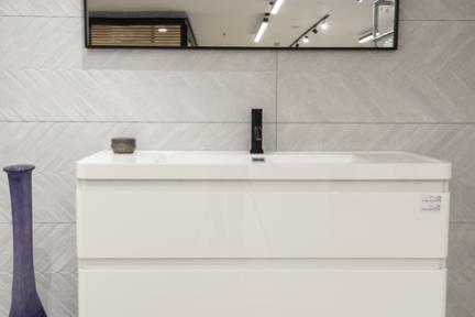 חדר גאומטרי אפרפר. קורס צילום אדריכלות בהנחיית סוזי לוינסון  הדגמים בחדר זה:  קירות דגם 1001685  ארון 6285 גודל 120  כיור L6285