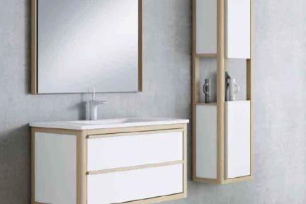 ארונות אמבטיה לאחסון  6290. ארון 2 מגירות לבן  + כיור חרס  מידה 120*45    כיור:  דגם L6290
