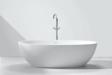 BT153MT. אמבטיה אבן מלכותית לבן מט   גודל 91*178