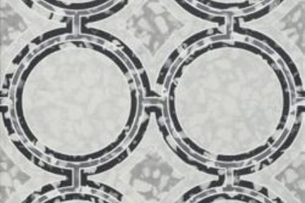 דגם 1002199. פורצלן טרצו עיגולים אפור-שחור  גודל 20*20  נגד החלקה R10