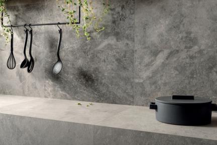 אריחי ריצוף  גרניט פורצלן דמוי אבן 1002188. דמוי אבן אפור - גוונים מעורבים  גודל: 100*100  נגד החלקה R10
