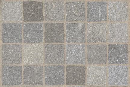 אריחים לריצוף חוץ פורצלן דמוי אבן 971152. R11 ריבועים חום+קשת לבנה  גודל: 60.5*60.5