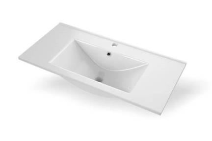 כיור מונח לחדר אמבטיה L6174A. כיור קרמי לבן  גודל: 46*100
