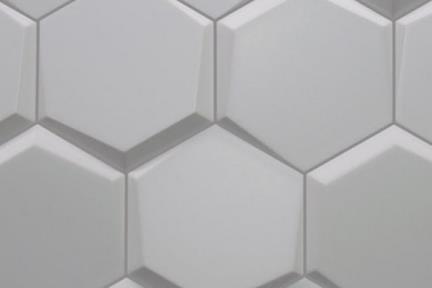 דגם 1324. משושה תלת מיימד אפור מבריק לקירות.  תוצרת ספרד.