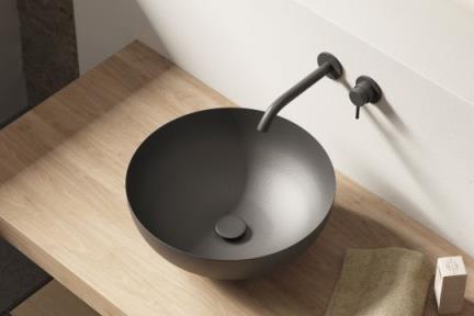 כיור מונח לחדר אמבטיה IRON40. כיור על עגול ברזל  גודל: קוטר 40