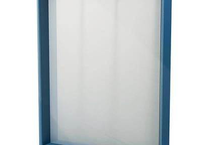 דגם MR45-4. מראה אנכית כחולה  גודל: 45*65