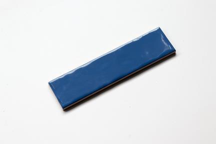 אריחי וינטג' לחיפוי קיר בסגנון עתיק 50284. קרמיקה ענתיקה כחול כהה מבריק  גודל: 20*5
