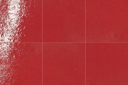 אריחי ריצוף  מסדרת Colour 21638. פורצלן ענתיקה אדום מבריק.  גודל: 21.6*21.6