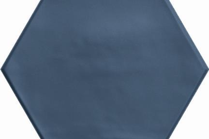 אריחי ריצוף וינטג' סדרת Hexagon 15194. פורצלן משושה כחול מט.  גודל: 15*17.3  נגד החלקה R10