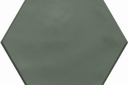 אריחי ריצוף וינטג' סדרת Hexagon 15196. פורצלן משושה ירוק מט.  גודל: 15*17.3  נגד החלקה R10