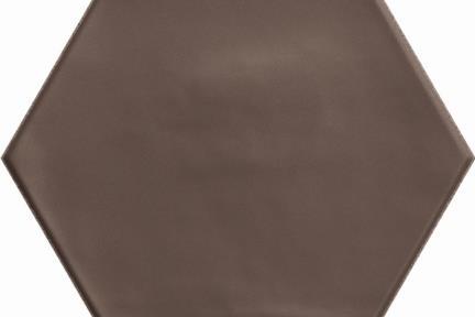 אריחי ריצוף  מסדרת Colour 15197. פורצלן משושה חום מט ענתיקה.  גודל: 15*17.3  נגד החלקה R10