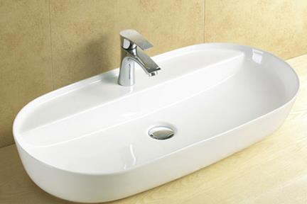 כיור מונח לחדר אמבטיה L804. כיור מונח מלבני  גודל: 41.5*81.5
