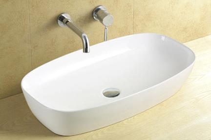 כיור מונח לחדר אמבטיה L637. כיור מונח אליפסי  גודל: 39*61