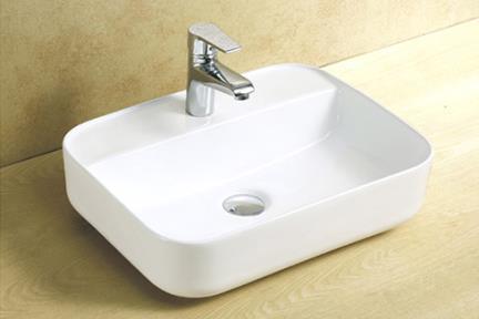 כיור מונח לחדר אמבטיה L509. כיור מונח עם חור לברז  גודל: 40*50