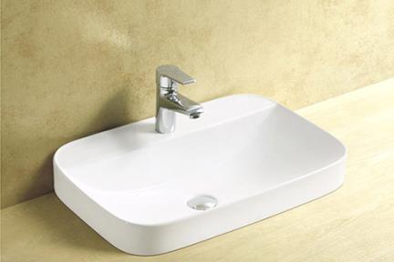 כיור אמבטיה חצי שולחני L615. כיור חצי שולחני מלבני  גודל: 40*60