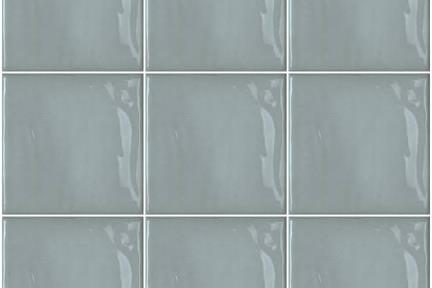 אריחי וינטג' לחיפוי קיר בסגנון עתיק 1001130. כחול תכלת ענתיקה מבריק  גודל: 15*15