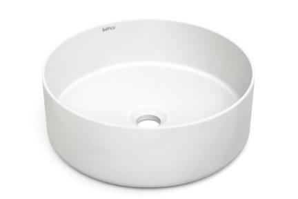 כיור מונח לחדר אמבטיה B414-11. כיור עגול קרמי לבט מט  קוטר: 38  גובה: 13