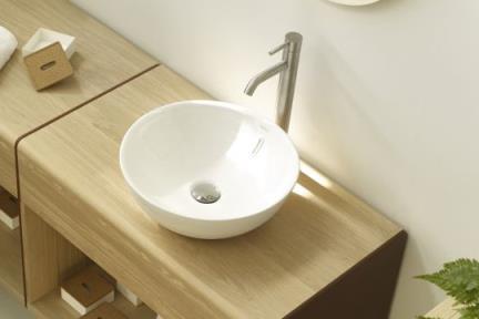 כיור מונח לחדר אמבטיה B425. כיור מונח עגול דק  קוטר: 42  גובה: 15